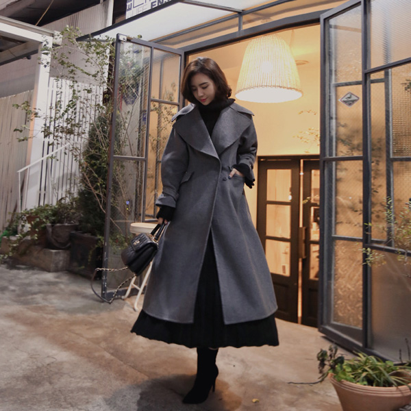 h.d big collar-coat