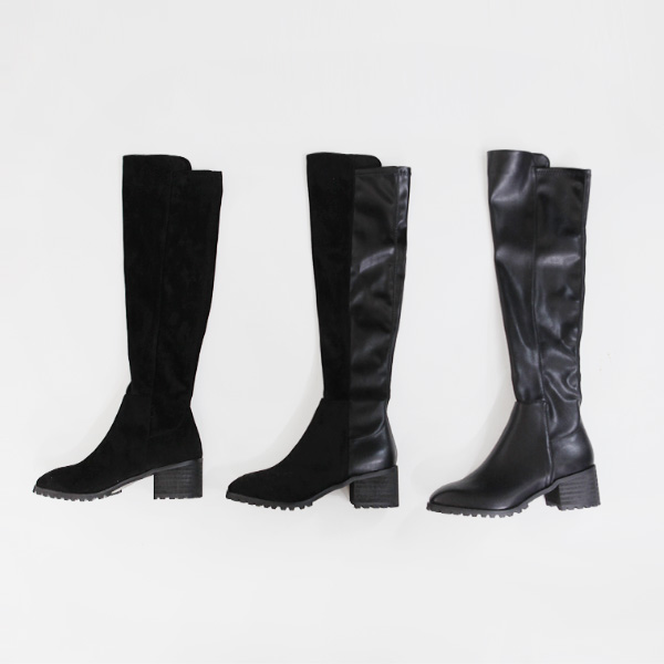 zipper long-boots