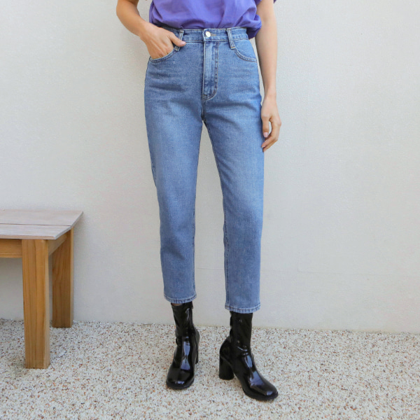 crop denim-pants
