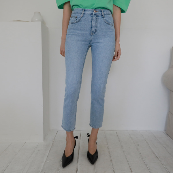 ruler denim-pants